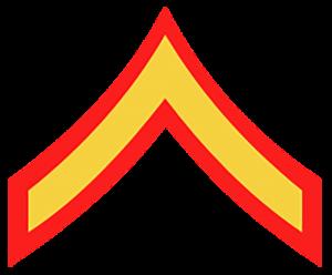 Marine Corps Ranks - Private 1st Class (PFC:E-2)